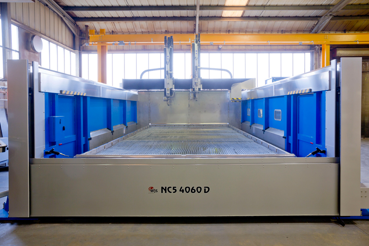 Water Jet Sweden Five X NC5 machine system with an extra 2D cutting head